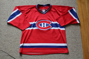 Habs embroidered jersey large