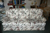 Floral pattern sofa and love seat set