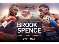 2x Kell Brook Errol Spence Sheffield Boxing Tickets Block E2 row H superb seats! + George groves