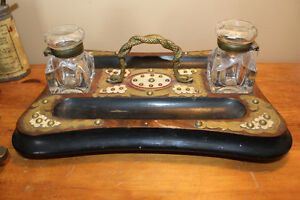Old Desk Seet - Entwined Snakes on Handle