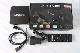 ANDROID MXQ PRO TV BOX, KODI, MOBDRO, SHOWBOX, NETFLIX, YOUTUBE LOADED