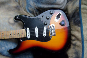diamond ring  fender guitar strat made from parts  half cart
