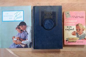 Livres Vintage traitant de la santé et des enfants