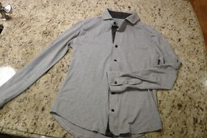 Lululemon Mens Line Grey longsleeved buttoned shirt