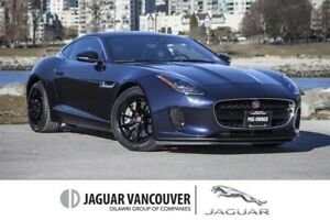 2018 Jaguar F-Type Coupe 296hp at *Certified Pre-Owned!