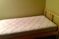 New Twin Bed and Bed Frame