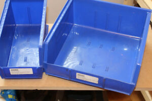 PARTS bins (AKRO) x 2 for SHOP, Garage, Bench, Industrial Model