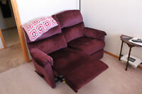 Maroon Reclining Loveseat
