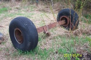 Axle and Tires - $100