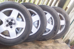 tires rims  195x65x15    bolts 5x100