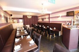 Indian restaurant for sale in filey. Fully equipped restaurant & 2 bedroom accommodation