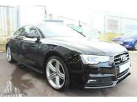 2013 BLACK AUDI A5 2.0 TDI QUATTRO S LINE DIESEL COUPE CAR FINANCE FR £185 PCM