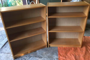 Two matched bookcases