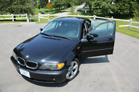 2005 BMW 3-Series 325i - Black, No Accident, Hwy Driven, Low KM!