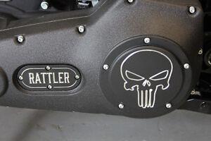 Custom Harley Davidson  Derby Cover - Skull Contrast