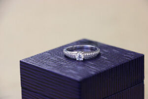 ** $2,190 VALUE ** White Gold and Diamond Ben Moss Ring