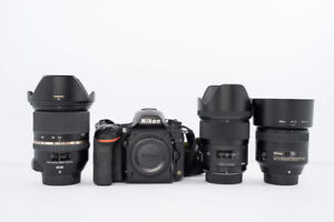 Nikon D750 + Lenses Combo Excellent Condition