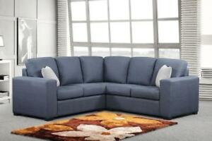 MODERN FABRIC SECTIONAL FOR SMALL SPACES | FABRIC SECTIONAL | MARKHAM / YORK REGION (BD-485)