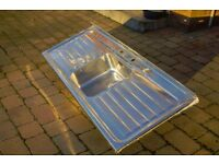 Stainless Steel Double Drainer Kitchen Sink - Used