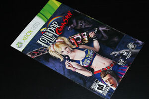 XBOX 360-LOLLIPOP CHAINSAW-MANUAL ONLY (COMPLETE YOUR GAME)