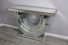 Brand New CC Diamond Sparkle Console Table