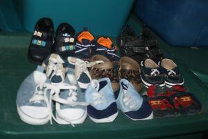 assorted small boys footwear