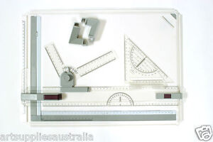 A3 Drafting Board Pro-Inc Drawing Head, Tilters & Set Square-5029R