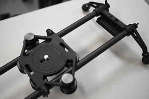 """Rhino Carbon Fibre 42"""" slider, light, strong with Flywheel, case"""