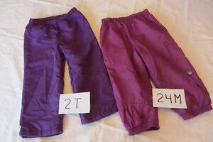 Deux paires de pantalons printemps/automne 24m et 2T