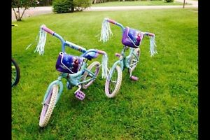 Anna and Elsa bicycles separately or together