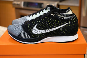 For Sale VNDS Nike Flyknit racer Black/White-Volt Size US 9