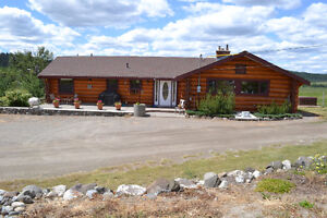 Beautiful  Acreage with Log Home and Huge shop