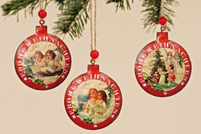 Vintage-Weihnachtshänger im 3er Set