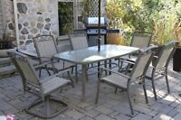 Patio set - table and six chairs