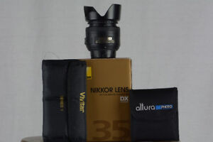 Nikon 35mm 1.8G Lens w/ LOTS of Filters!