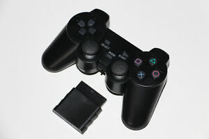 PS2-MANETTE SANS FIL/WIRELESS-CONTROLLER+SENSOR-NOIR/BLACK (NEUF/NEW) [VOIR/SEE DESCRIPTION] (C003)