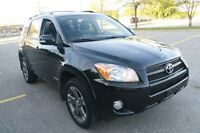 Black on Black, 4WD, LEATHER, SUNROOF, 2010 TOYOTA RAV4
