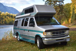 well maintained '97 FORD Camper Van 5.4L, high rooftop, sleeps 4