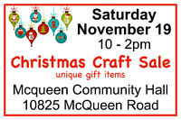 McQueen Community Christmas Craft Sale