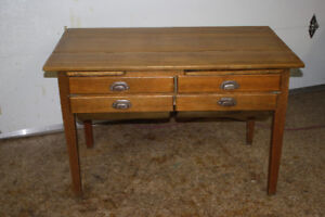 Antique Pine Bakers Table