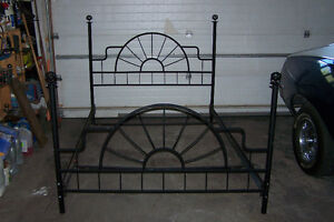 Queen  Black Iron 4 Poster Bed Frame Only $99 call 306-591-0391