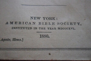 Antique 1880 bible Kitchener / Waterloo Kitchener Area image 4