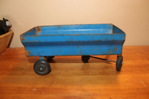 Vintage Tin Toy Farm Wagon - Blue London Ontario image 3