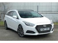 2017 Hyundai i40 1.7 CRDi Premium Blue Drive (141ps) Diesel white Manual