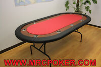 Full Size Poker Table for 10 Players