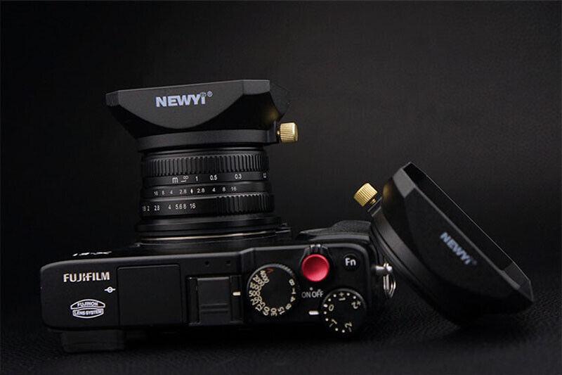 52MM Universal Square Lens Hood for DSLR Mirrorless Camera Lens Camcorder DV
