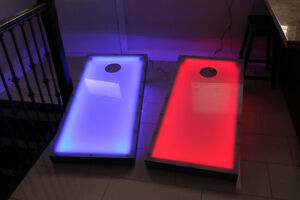 Cornhole game/Bean bag toss with LED lights