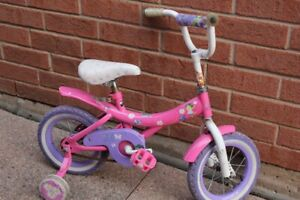 "12"" GIRLS DORA BIKE BICYCLE TRAINING WHEELS"