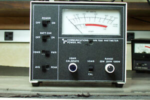 COMMUNICATIONS POWER INC. VM 7000 SWR/WATT METER CB/HAM RADIO