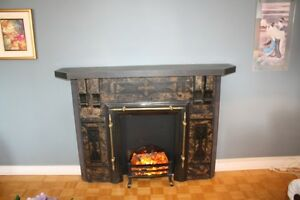 Beautiful Antique Decorative Fireplace